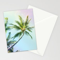 Relaxing Rainbow Color Palms Stationery Cards