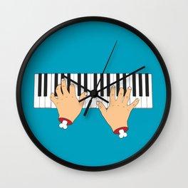 Piano Hands Wall Clock
