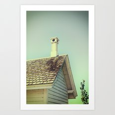 Summer cottage gable roof Art Print