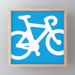 Blue Bike Framed Mini Art Print