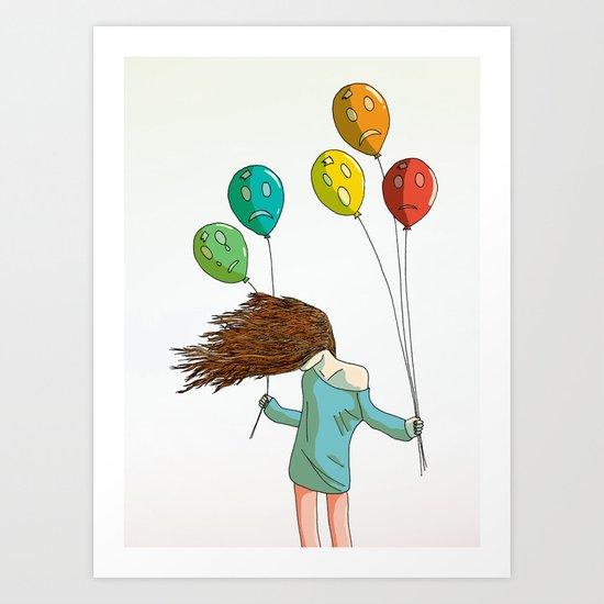 Baloons on wind Art Print