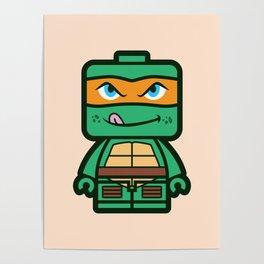 Chibi Michelangelo Ninja Turtle Poster