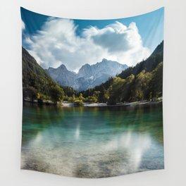 Lake Jasna in Kranjska Gora, Slovenia Wall Tapestry