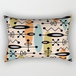 Mid Century Modern Radioactive Surfer 334 Rectangular Pillow
