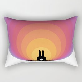 Bunny Rabbit Sunrise Rectangular Pillow