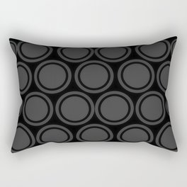 Black and Grey Circles | Mod Graphic Pattern #2 | Nadia Bonello | Canada Rectangular Pillow