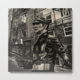 Security Sees A Rat Scatter Metal Print