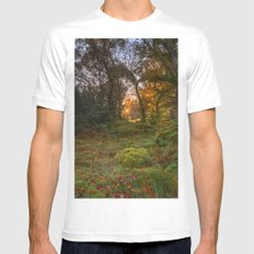 Sunlight wood White Mens Fitted Tee MEDIUM