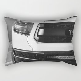 """""""TOY"""" Tundra // Black and White Monster Truck Geared Out Big Wheels Matte Black Grille Rectangular Pillow"""