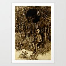 Mud Man Art Print