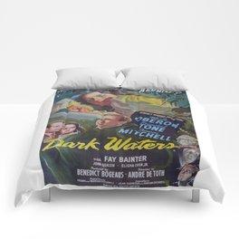 Dark Waters, vintage horror movie poster Comforters