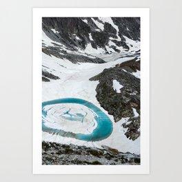 Lakes of Frémamorte Art Print