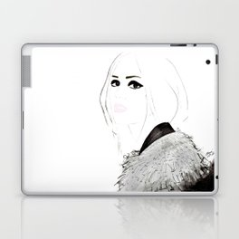 Watercolour Fashion Illustration Titled Wild Child Laptop & iPad Skin