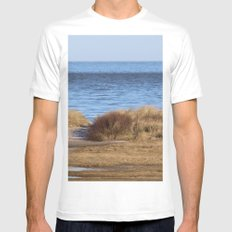 At the beach 4 White MEDIUM Mens Fitted Tee
