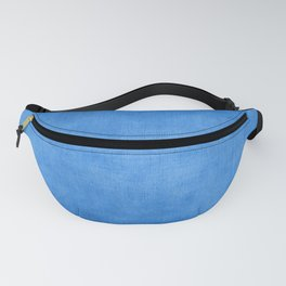 """Exotic Moroccan Indigo Blue Burlap Texture"" Fanny Pack"
