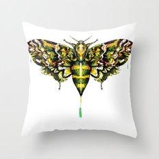Exhotic Moth Throw Pillow