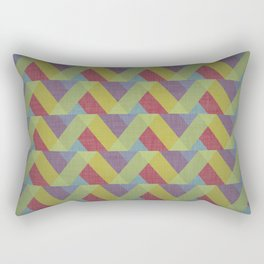 Ribbon Geometry Rectangular Pillow