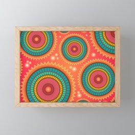 Colored circle ethnic Framed Mini Art Print