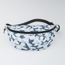 Abstract Leopard - Navy / Light Blue / White Fanny Pack