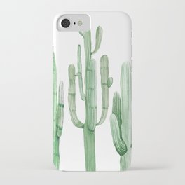 Three Amigos White + Green by Nature Magick iPhone Case