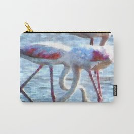 Flamingos Eating Watercolor Carry-All Pouch