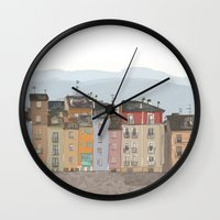 cityscape Wall Clocks featuring Cityscape by Paint Your Idea