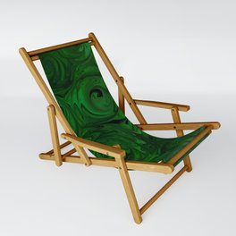 Emerald Green Roses Sling Chair