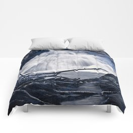 Glowing Midnight Waterfall Comforters