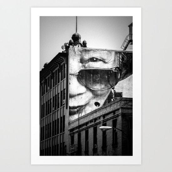 Downtown Los Angeles building face Art Print