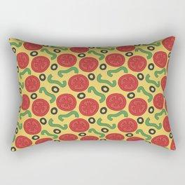 Pizza Topping Pattern Rectangular Pillow