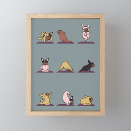 Frenchie Yoga Framed Mini Art Print
