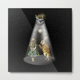 A Portal To Wonderland - Alice In Wonderland Metal Print