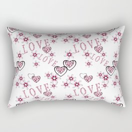 Openwork pattern with hearts. Rectangular Pillow