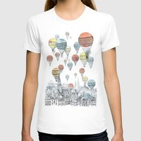 illustration T-shirts featuring Voyages over Edinburgh by David Fleck