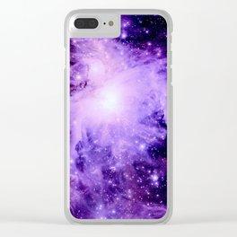 Orion nebUla. : Purple Galaxy Clear iPhone Case