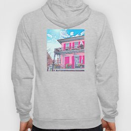 Watercolor Pink New Orleans French Quarter Nola Home Hoody