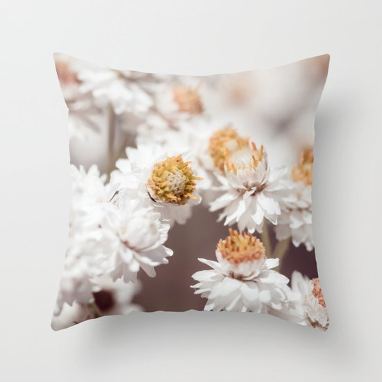Pearly Everlasting Throw Pillow