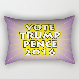 Vote Trump Pence 2016 Rectangular Pillow