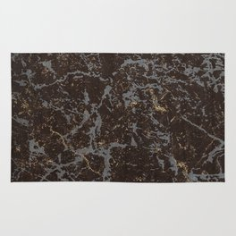 Crystallized gold stone texture Rug