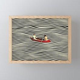 Illusionary Boat Ride Framed Mini Art Print