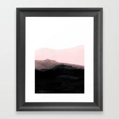 mountain horizon Framed Art Print