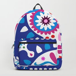 Day of the Dead Blue Sugar Skull Backpack