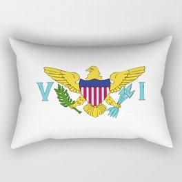 Virgin Islands US flag emblem Rectangular Pillow
