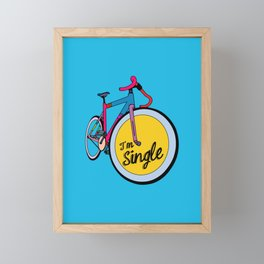 I´m Single Framed Mini Art Print