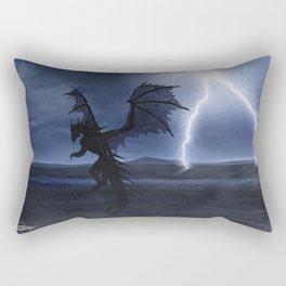 Dragon in the darkness Rectangular Pillow