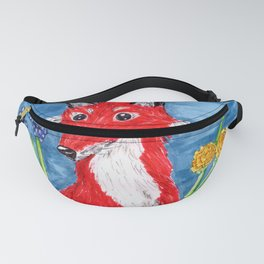 Spring Fox Surrounded by Flowers Fanny Pack