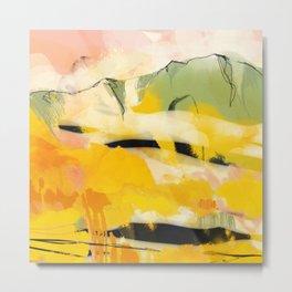 landscape abtract - paysage jaune Metal Print