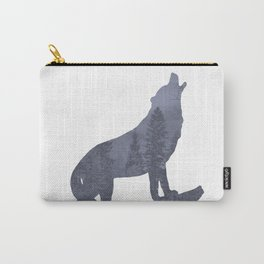 Wolf Silhouette Modern Country Art Modern Farmhouse Art A066 Carry-All Pouch