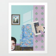 i scared her with the dead guy Art Print