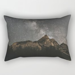 Milky Way Over Mountains - Landscape Photography Rectangular Pillow